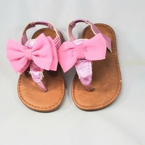 Other - Toddler girl pink bow sandals